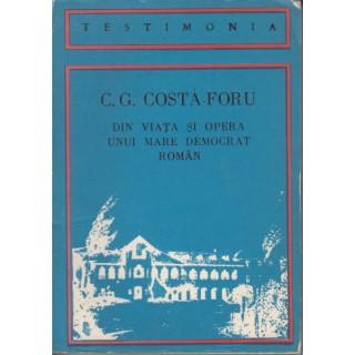 Din viata si opera unui mare democrat roman - C.G. Costa-Foru
