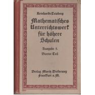 Geometrie algebra und infinitesimaltechnung, teil IV - H. Detlefs