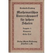 Geometrie fur die mittleren rlaffen der realschulen und dberrealschulen, teil I - M. Zeisberg