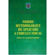Norme metodologice de aplicare a codului fiscal - *