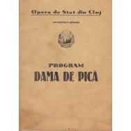 "Libret Opera de Stat din Cluj 1949-1950 -€"" Dama de pica - *"