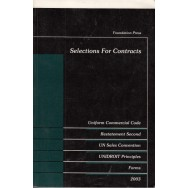 Selections for contracts, uniform commercial code - E. Allan Farnsworth, William F. Young